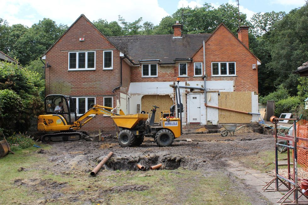 Double size of house; large two-storey extension, complete ...